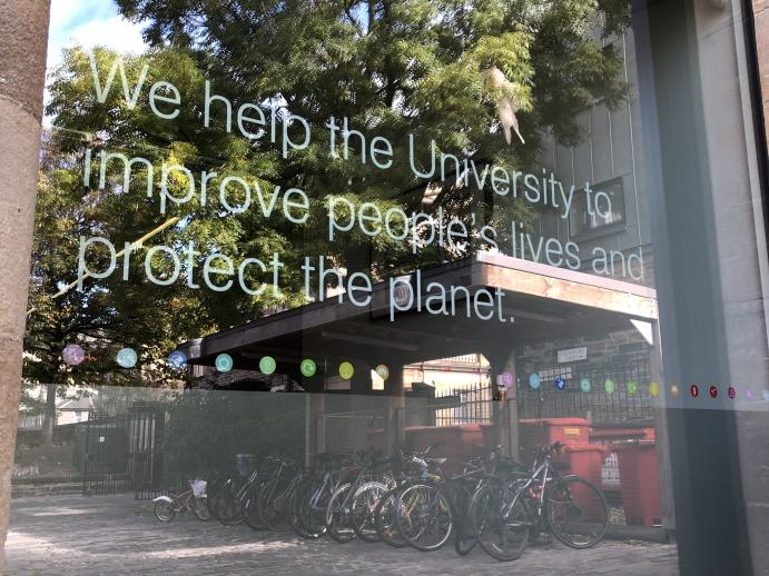 Window design: We help the University to improve people's lives and protect the environment