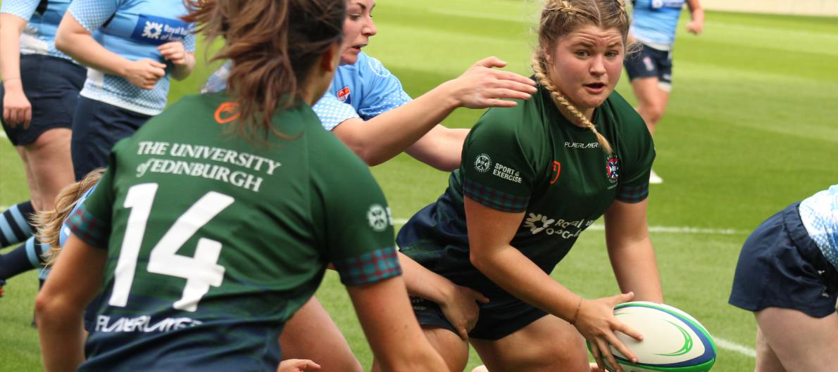 Edinburgh students playing rugby