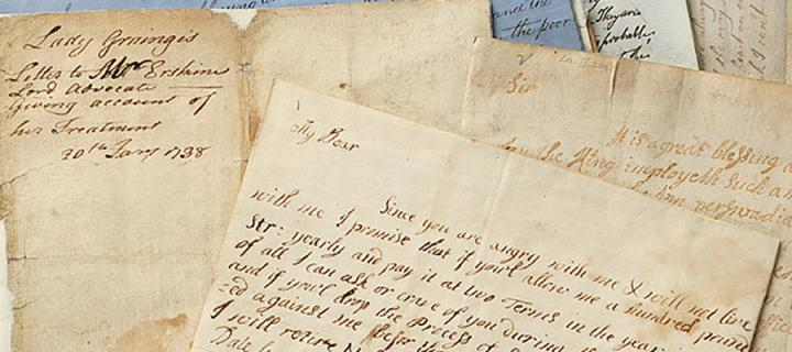 Image of letters written by Lady Grange detailing her kidnapping