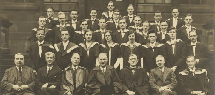 Graduates in Chemistry, 1932 (crop)