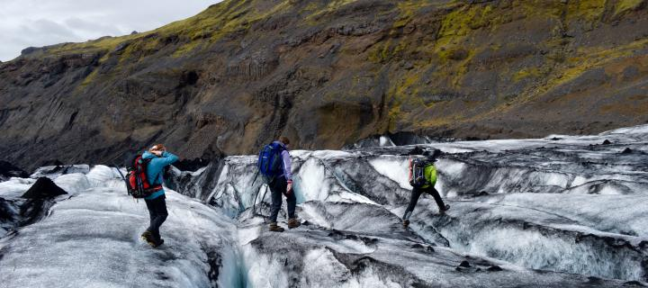Students on Geography Field trip to Iceland