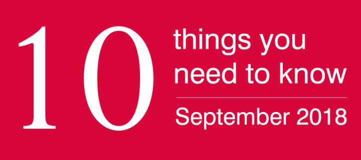 ten things for alumni september 18