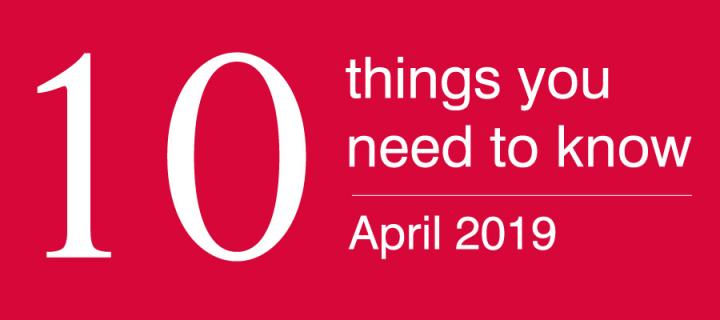 10 things alumni april 19