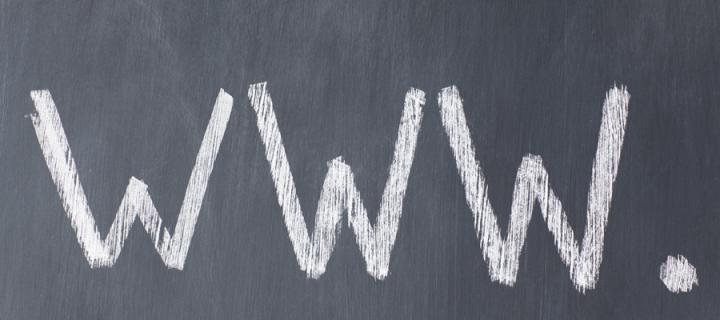Image of chalkboard with www. written on it