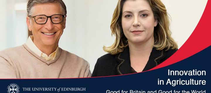 Bill Gates and Rt Hon Penny Mordaunt