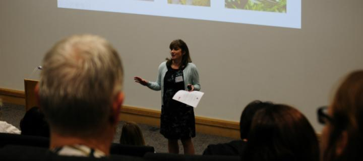 Dr Lesley Penny, Director of Veterinary Scientific Services, addresses delegates at the 7th annual 3Rs symposium
