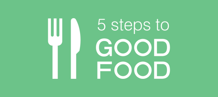 5 steps to good food overview image