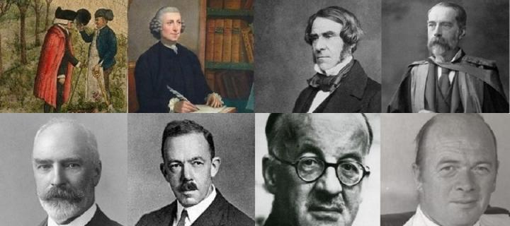 Images of some of the Professors who held the prestigious Materis Medica Chair at the University