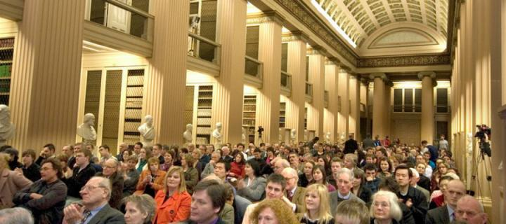 Audience in the Playfair Library