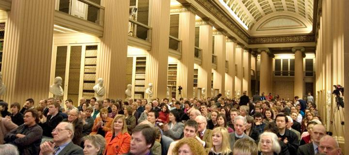Audience in Playfair Library at Old College