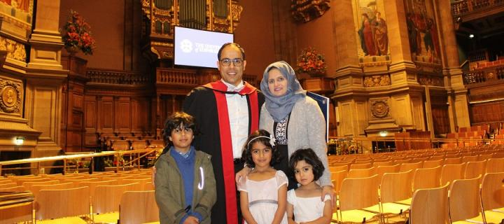 Dr Abdullah Al Alkalaly and family