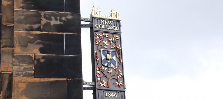 Colour image of New College Sign