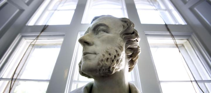 Statue head in New College
