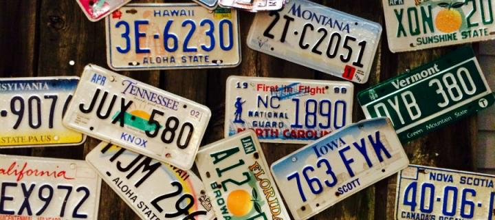 United States Number plates