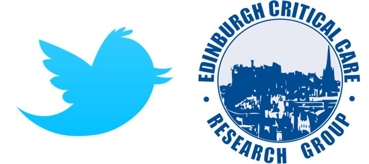 Twitter and Edinburgh Critical Care Reasearch Group logos