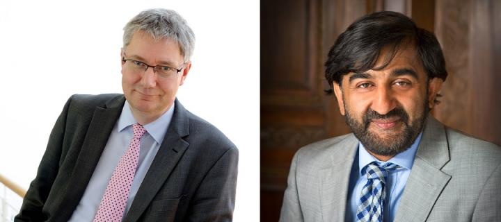 Professors Andrew Morris and Aziz Sheikh