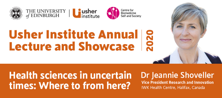 Usher Institute Annual Lecture, Wednesday 28 October 14:00-16.00 (UK), Register at: https://edin.ac/2E0z2Wy