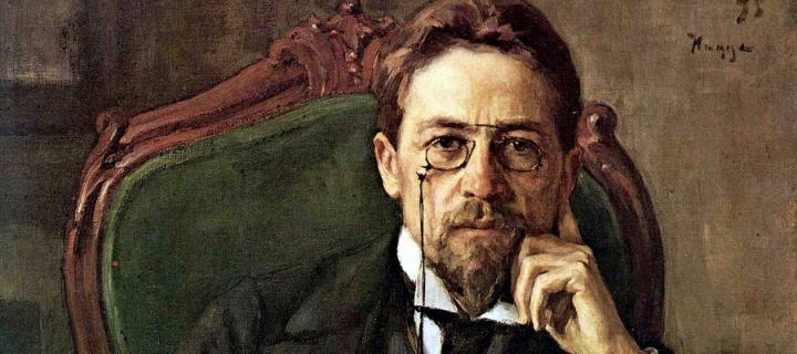 Portrait of the Russian playwright Anton Chekhov