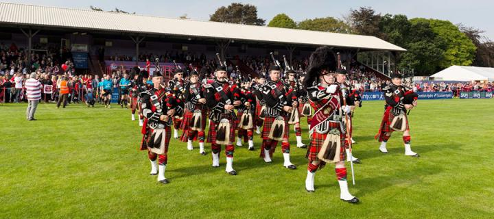 pipers at highland games