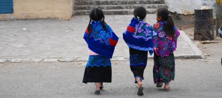 Children in colourful dresses