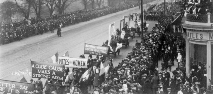 The Great Procession and Women's Demonstration 1909