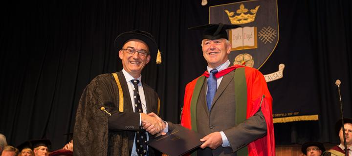 IGMM News 2014 - Nick Hastie receives honorary degree