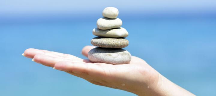 Zen stones hand