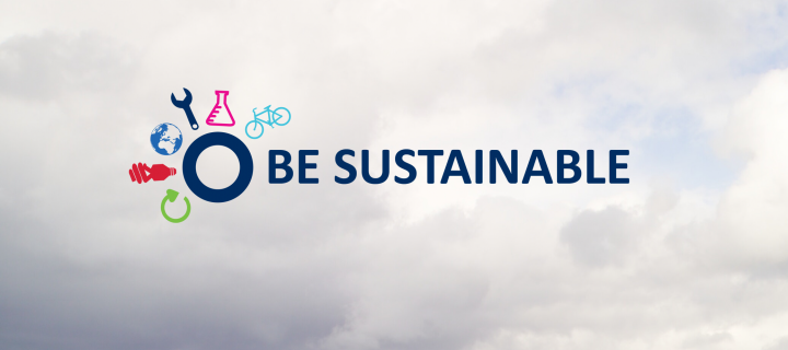 Be sustainable online training banner logo clouds