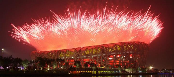 Beijing Olympics Ceremony Fireworks