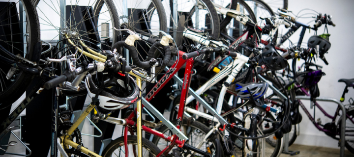 Bicycle storage at IGMM