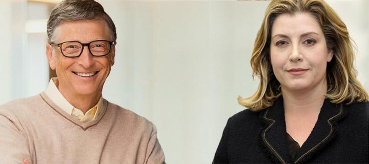 Bill Gates and Penny Mordaunt
