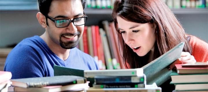 Alumni bookshelf
