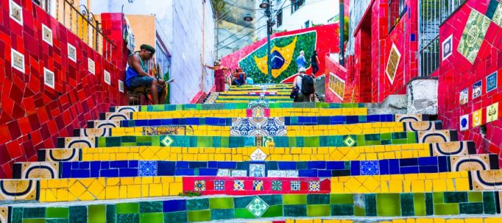 Colourful steps in Brazil