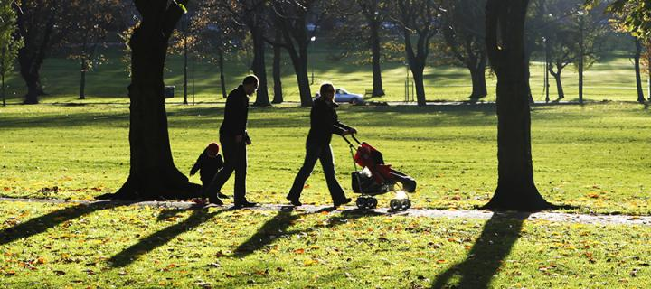 A family on the Meadows
