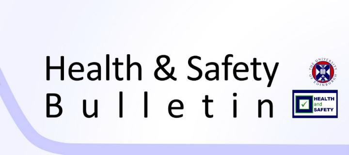 Image of the regular bulletin published by the Health and Safety Department