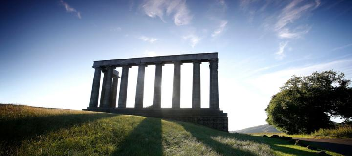 National Monument of Scotland on Calton Hill