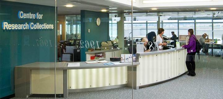Centre for Research Collections main desk
