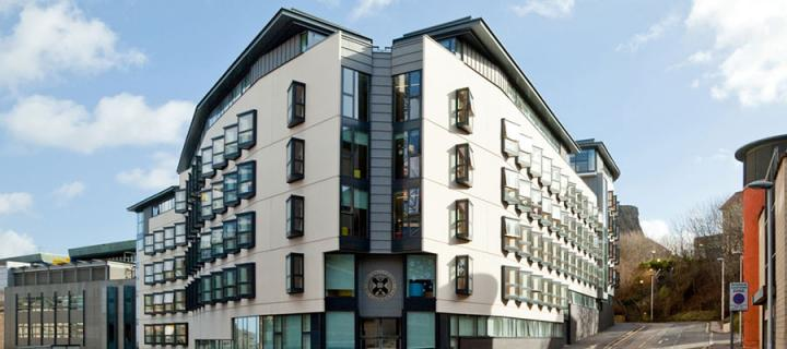 Photo of the postgraduate accommodation at Holyrood, Edinburgh