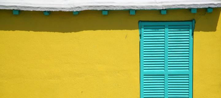 Colourful Caribbean house