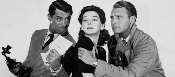 Cary Grant, Rosalind Russell and Ralph Bellamy in His Girl Friday