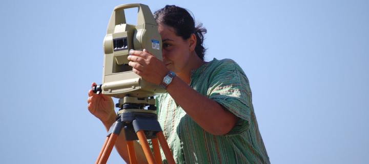 Using a total station