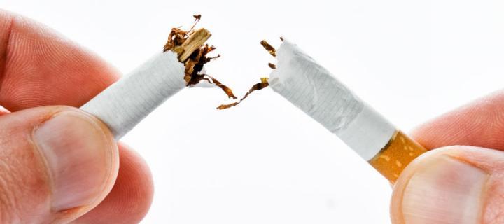 cigarette cut in half