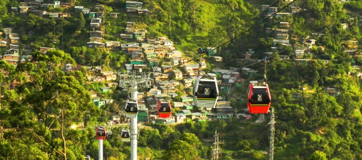 Cable cars in Medellin, Colombia