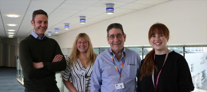 David Griffith, Olga Paterson, Graham Nimmo and Lindsay Rutherford, MSc in Critical Care Team