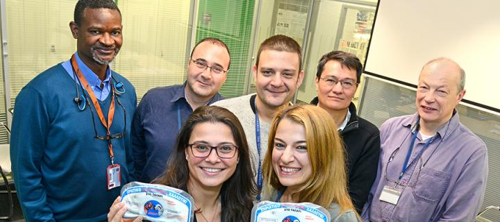 AGRICYGEN coordinator, Dr Georgia Hadjipavlou and Dr Michael Papadopoulos with team members from The Roslin Institute.