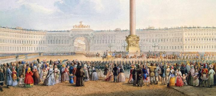Palace Square, Saint Petersburg by Vasily Sadovnikov