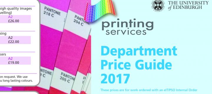 printing services price guide 2017