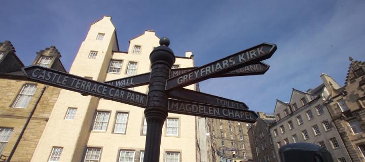 Edinburgh street signpost