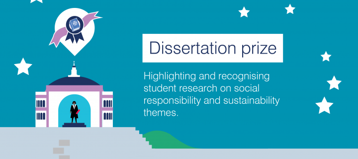 Dissertation prize: Highlighting and recognising student research on social responsibility and sustainability themes.
