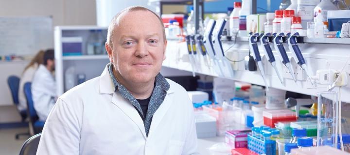 Prof David Lyons in his lab